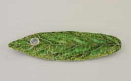 Enameled Leaf Pin